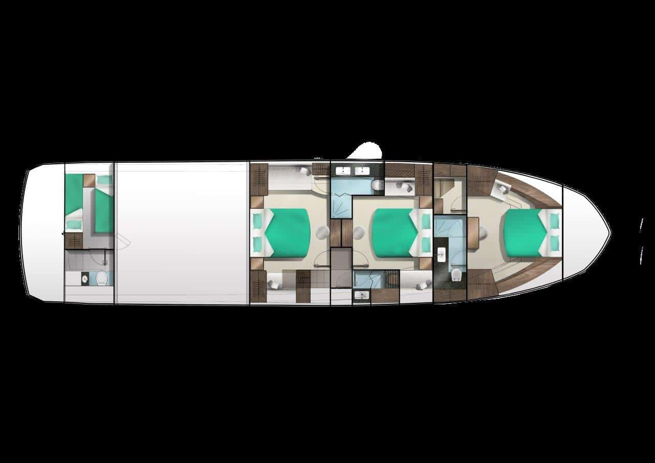 640 lower deck three master cabin layout